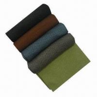 China Knitted Scarves for Men, Made of 50% Acrylic and 50% Wool, Measures 30 x 180cm on sale