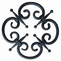 Quality Forged Rosette, Made of Mild Steel, with Sandblas Surface Finish wholesale
