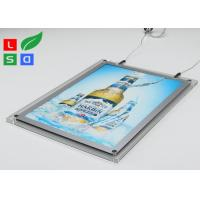 Quality 2mm Clear Acrylic LED Crystal Light Box HS Code 94056000 For Ceiling Hanging wholesale