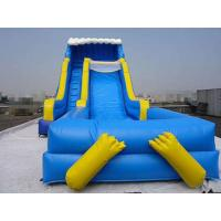 Quality Blue Durable Swimming Pool Lake Inflatable Water Slides Eco Friendly PVC wholesale