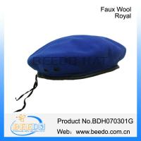 Quality Kids beret cap faux wool uniform peaked cap wholesale