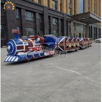 Quality Tourist Mini Electric Trackless Train Outdoor Amusement Ride 2.2kw Power wholesale