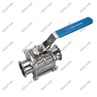 China Stainless Steel 316 Sanitary 3 PCS Ball Valve with Mounting Pad on sale