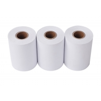 China 210mm 50gsm Carbonless Printed Thermal Paper Rolls on sale
