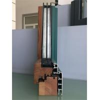 Cheap Extruded Aluminium Window Profiles / Green Color Three Layers Glass Combined for sale