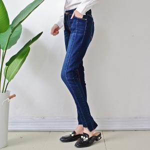 Quality Super skinny fit Unique bottom women denim jeans wholesale