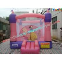 Quality Pink Inflatable Bounce Houses , CE / EN14960 Jumping Castle Rentals wholesale