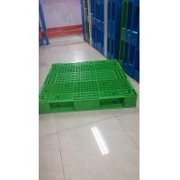 Quality Green color reversible plastic pallet and demension 1100x1100x150mm from China wholesale