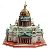 Quality 3D Paper Puzzle Saint Isaac's Cathedral in Saint-Petesrburg Size 32x27x30 cm wholesale