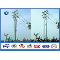 China Q345 Hot dip galvanized Electrical Power Pole with 16M ~ 20M Height 470 ~ 630 Mpa Tensile Strength on sale