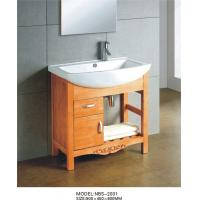 Quality Customized Dimenstions bathroom furniture vanities , bathroom freestanding cabinets wood 1 door 1 drawer wholesale