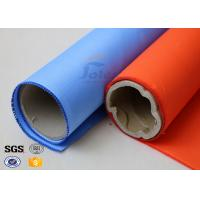 Quality Blue Rubber Silicone Coated Fiberglass Fabric Thermal Insulation Cover 18oz wholesale