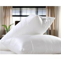 Cheap 90 duck goose feather pillows cotton percale pillow for Duck or goose feather pillows which is better