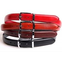 Quality Lightweight Womens Genuine Leather Belt 2.8cm Width With Contrast Color Edge Painting wholesale