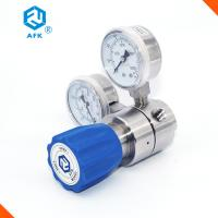 Quality High Pressure Stainless Steel Pressure Regulator Medium Flow Rate With Two Gauges wholesale