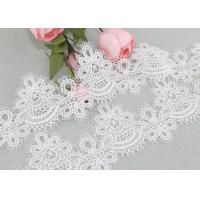 Cheap 6cm Width Water Soluble Lace Polyester Lace For Clothing Azo Free for sale