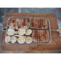 Quality SS 304 Silver Barbecue Grill Plate Crimped BBQ Mesh Panel Round Shape wholesale