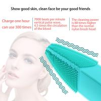 High Frequenc Exfoliating Silicone Skin Brush Food Grade Material 6000rpm