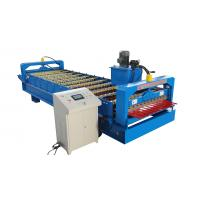 China Trapezoidal Roof Wall Panel Roll Forming Machine Sheet Metal Roll Former Touch Screen on sale