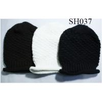 Quality woman knitted hat good style and high quality SH037 adults acrylic hats wholesale
