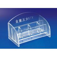 Quality 5mm Clear Simple Acrylic Stationery Holder For Office With Notes Box wholesale