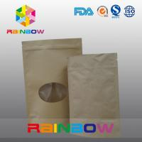 Quality Plain Brown Zipper Top Kraft Paper Bag Customized Paper Bags For Pepper Snack Candy wholesale