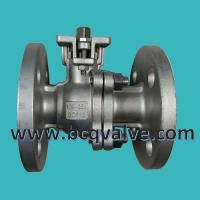 Quality JIS (KS)10K stainless steel flanged 2-PC ball valve with mounting pad wholesale