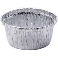 China Fast Food Aluminium Foil Container H22 / H24 Round Shaped Cup Aluminium Foil on sale
