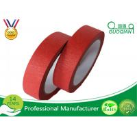 Quality Low Adhesive Solvent - Based Acrylic Red Colorful Thin Masking Tape Crepe Paper wholesale
