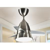 Modern Indoor Ceiling Lights : Silver white w modern led ceiling fan light fixtures