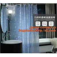 China Mould Proof Waterproof white and black trellis design pvc custom bath curtain printed shower curtain, High quality Polye on sale