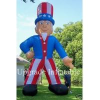 Quality custom 20ft USA inflatable uncle sam balloon with blower for advertising wholesale