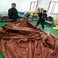 Quality Red Or Army Green 1.2mm PVC Coated Tarpaulin 800 Tons Biogas Digester wholesale