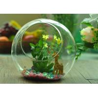 Quality Gift Hanging Teardrop Tealight Holder / Hanging Glass Terrarium Containers wholesale