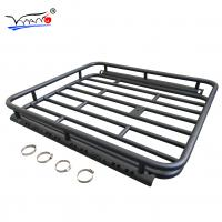 Quality Nissan Paladin Low Profile Roof Rack Basket , E009A Easy To Get On Car Cargo Basket wholesale