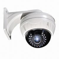 China CCD Dome Camera, Vandal-resistant, w/ 20 to 25m IR Distance, 30-piece LED and 650TVL High Resolution on sale