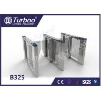 Quality Optical Swing Barrier Gate , Fingerprint Controlled Access Turnstiles Security Gate wholesale