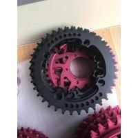 Quality Red / Black Anodized CNC Machining Parts for Bicycle Accessories / Toothed Wheel wholesale