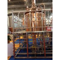 Quality Red Copper Commercial Beer Brewing Equipment 100MM Insulation Thickness wholesale