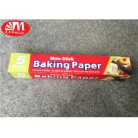 Quality Double Sides Silicone Coated Parchment Paper Roll 300mm×5m Size Food Wrapping / Baking wholesale