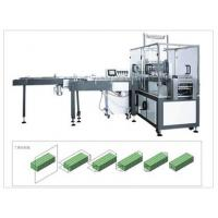 China Auto Feeding Box Drawing Facial Tissue Paper Packing Machine , PLC Control on sale