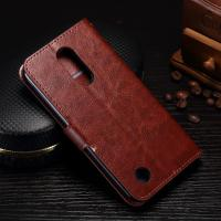 Quality Protective Leather Lg K8 Wallet Case , 5.3 Inch Lg K8 Flip Cover With Card Slot Function wholesale