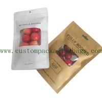 China Printed Stand Up Pouch Bags Kraft Paper Material Different Sizes With Bottom Gusset on sale