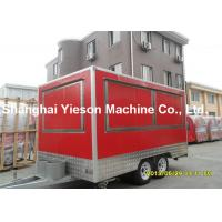 China Customize Red Kitchen Cooking Fast Food Kiosk Car With Braking System on sale