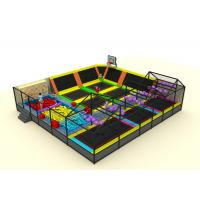 China Commercial Soft Play Trampoline , Galvanized Steel Pipe Big Trampoline Park on sale