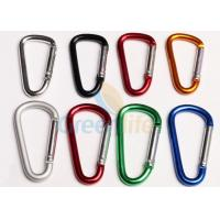 Buy cheap Anti - Lost Metal Carabiner Clip D Hooks Standard Different Colors For Lanyards from wholesalers