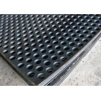 Quality 2mm Thick Perforated Steel Mesh , 41 % Open Rating Black Perforated Iron Sheet wholesale