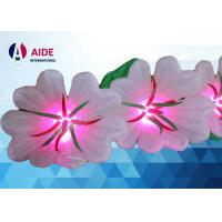 Quality 10 Flowers Inflatable Flower Chain , Colorful Led Inflatable Lighting Decoration For Wedding wholesale