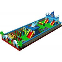 China Kids Amusement Park Fun City Inflatables Castle With Dolphin And Palm Tree on sale