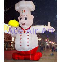 Quality 5m H Outdoor Giant Inflatable Pastry Chef For Pastry Promotion On Street wholesale